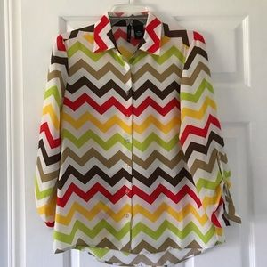 New Directions chevron blouse